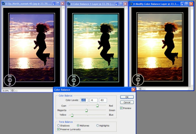color balance adj2 680x466 How to photograph and edit silhouettes {part 2}
