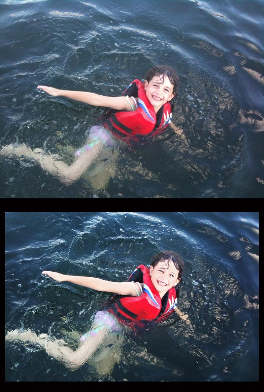 jenna swimming in lake b&a sm