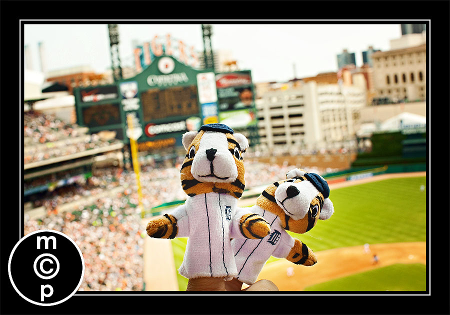 detroit tigers 34 A Depth of Field Lesson from Finger Puppets at a Baseball Game