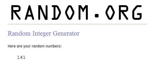 random And the LUCKY winner of the Tamron Lens is…