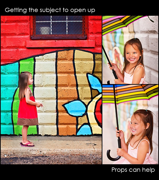 umbrella thumb Photographing a Shy Child ~ How to Get Them To Interact