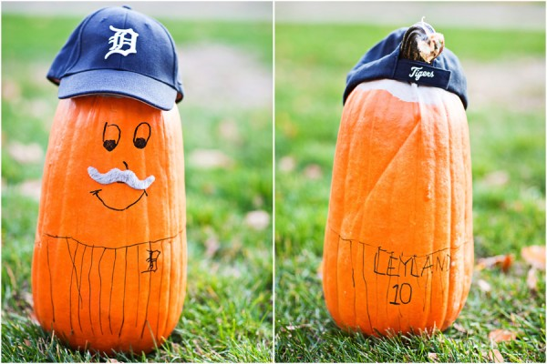 jim leyland detroit tigers pumpkin