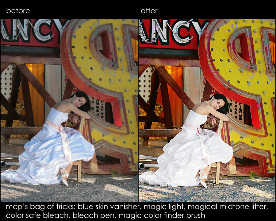 mark eric ba NEW Photoshop Elements Retouching Actions: Fix Skin, Sky, Color, Exposure, and More