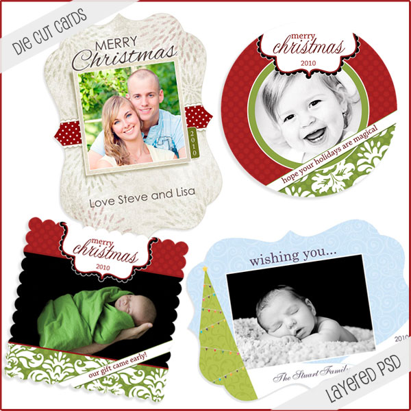 christmas card photoshop templates