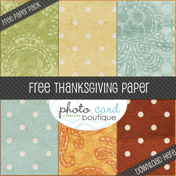 pcb thanksgiving pp giveaway FREE Thanksgiving and Holiday Photo Card Templates+ Digital Papers + More Goodies
