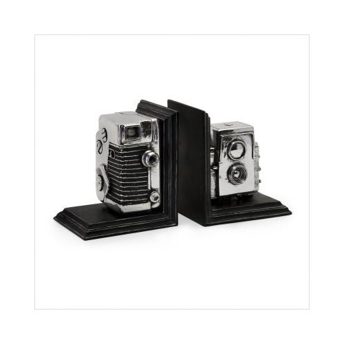 vintage camera bookends