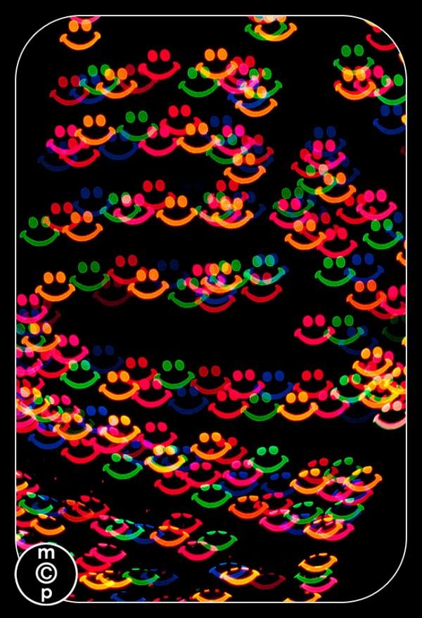 smiley bokeh shapes