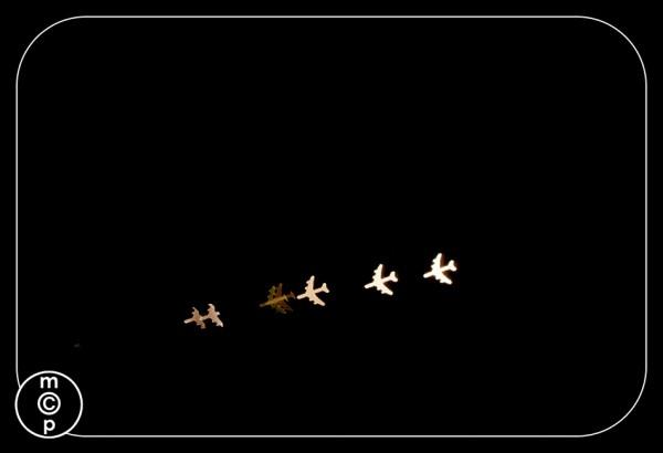 christmas lights airplane bokeh shapes