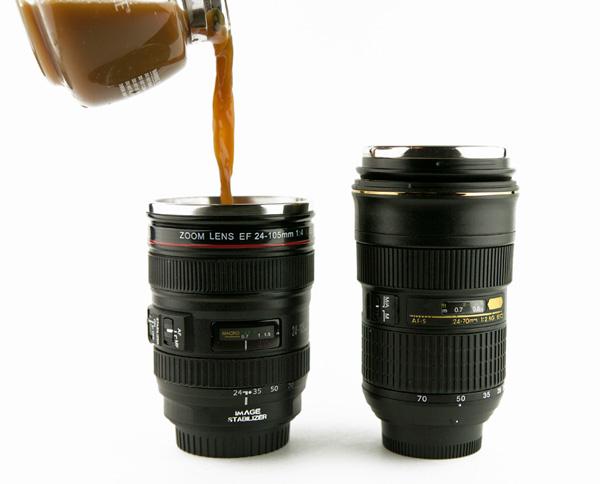 canon and nikon lens mugs