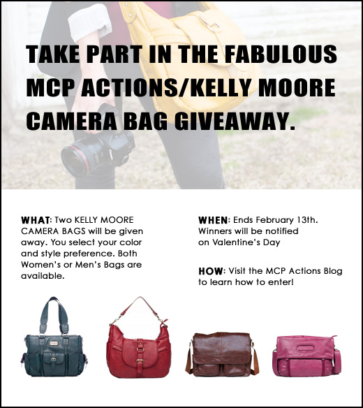 KM Giveaway INFO Giveaway: 2 Kelly Moore Camera Bags for Men and Women!