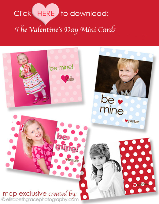 click to download from blog FREE Valentines Day Mini Cards: Great Gift for Customers and Kids