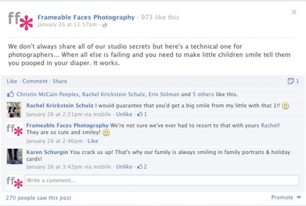 FB fun photo tip 600x405 9 Ways to Generate Great Content For Your Studio on Facebook