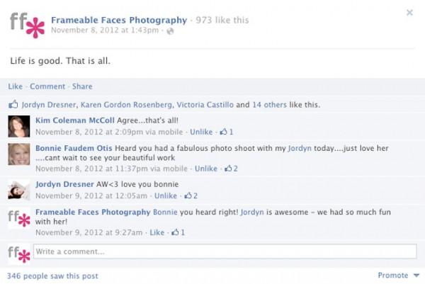 Simple FB status example