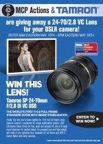 Enter to Win a Tamron Lens 24-70 2.8 VC for Canon, Nikon, or Sony