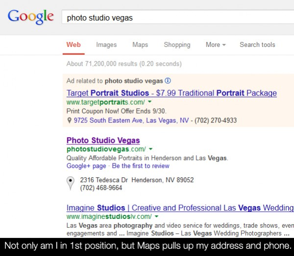 googlerank 600x523 How To Rank In Google Search As A Local Photography Business