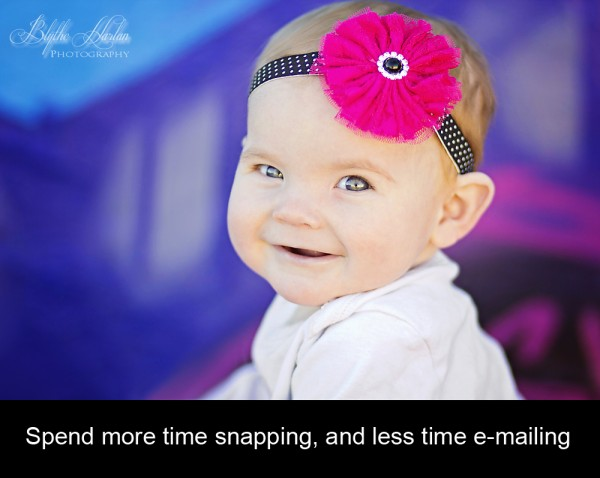 Learn how to spend less time writing e-mails, and more time taking pictures