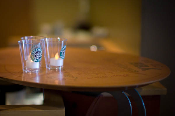15 Starbucks by Candel Light Inside Tokyo: One Photographers View