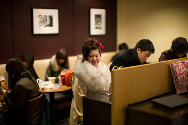 5 kimono girl in starbucks Inside Tokyo: One Photographers View