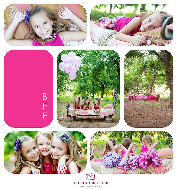 rounded templates and collages