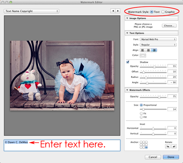 SS002 How to Create a Watermark in Lightroom 3