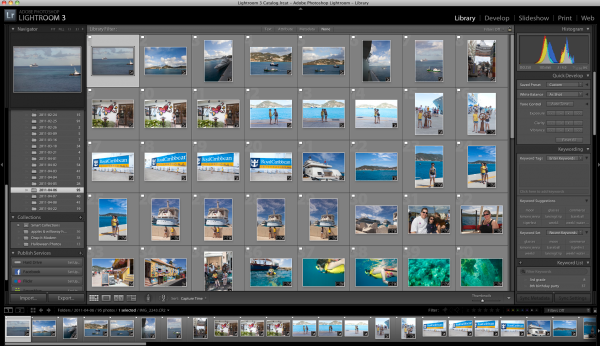 editing vacation photos in lightroom