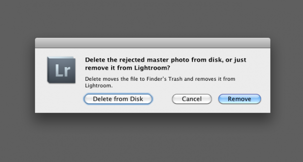 delete rejected photos in lightroom