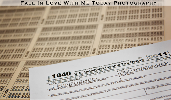 Informing photographers of tax responsibilities