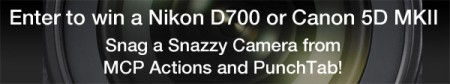 banner 2 450x84 Snag A Camera Giveaway: Win a Canon 5D MKII or Nikon D700