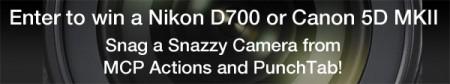 banner 2 450x84 Snag A Camera Giveaway: Win a Canon 5D MKII or Nikon D700