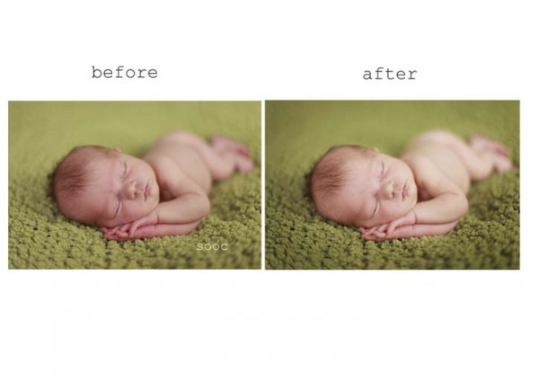 before after 11 600x434 How to Achieve Creamy Newborn Skin Using Photoshop