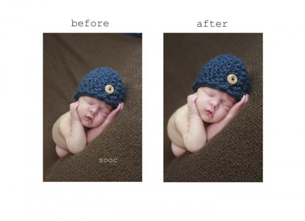 before after 2 600x434 How to Achieve Creamy Newborn Skin Using Photoshop