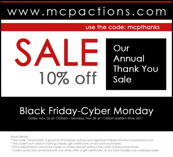 coupon 2011 600x545 MCPs Annual Thank You Sale: Save 10% Now