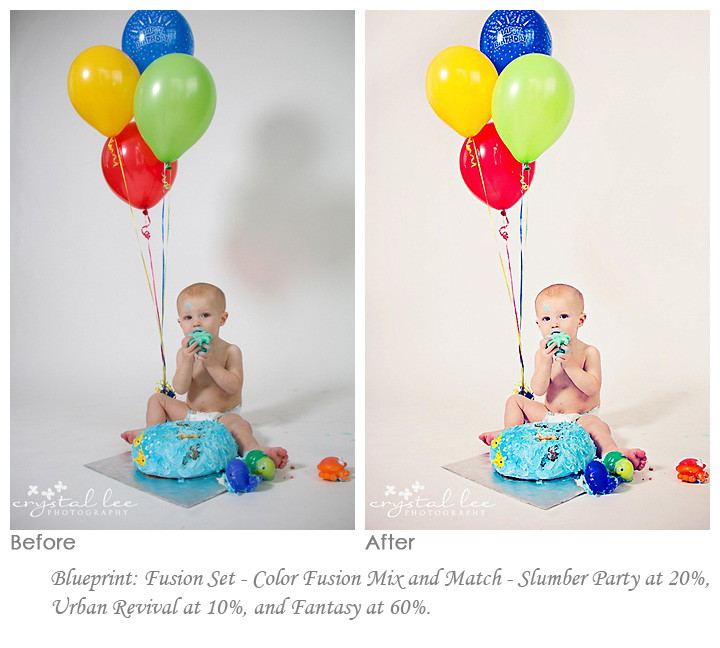 crystal Fusion Photoshop Actions: Before and After Edits from Customers