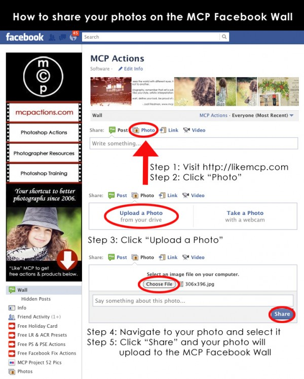 how to share on mcp wall 600x746 How to Share Your Photos on the MCP Facebook Wall