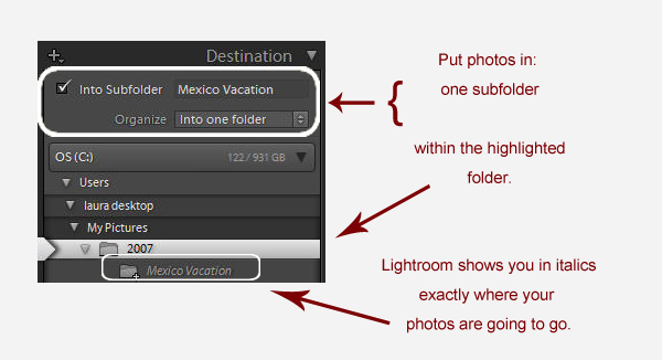 organize into one folder Avoiding a Lightroom Folder Mess    Lightroom Import Basics