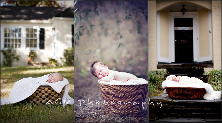 outside basket Newborn Photography Poses ~ Styles of Newborns