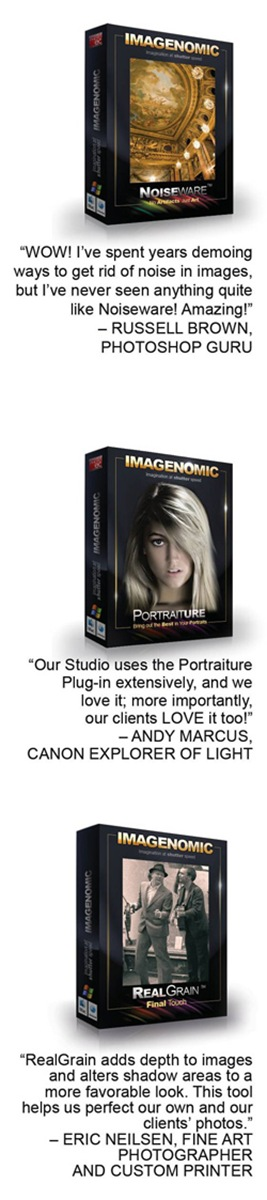 products11 Win Portraiture, Noiseware, and Real Grain from Imagenomic