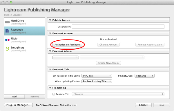 The Lightroom Publishing Manager in Lightroom 3