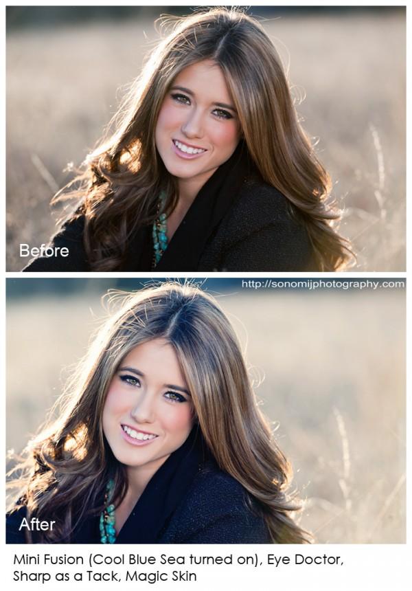 how to edit senior photos
