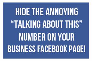 talking about this How To Get Rid Of Your Talking About This Number on Facebook
