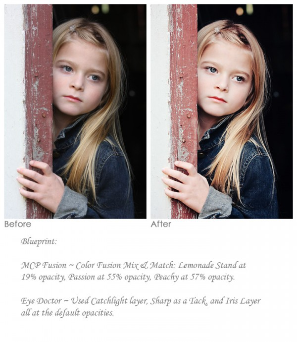 editing portraits with photoshop actions