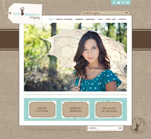 Ann Bennett Photography Website