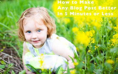 How to Make Any Blog Post Better In 5 Minutes Or Less