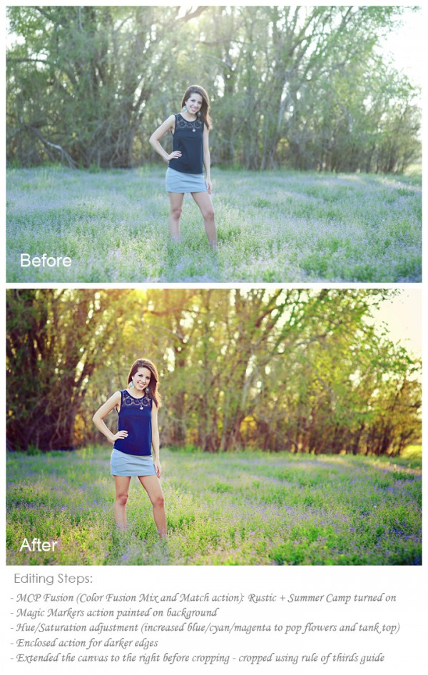 senior photography edited in photoshop