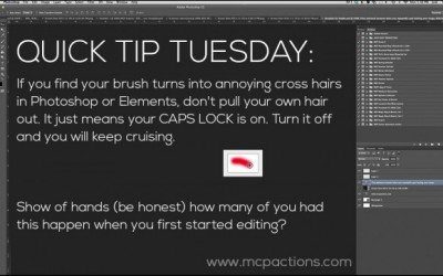 Quick Tip Tuesday: Get Rid of Cross-Hairs on Photoshop Brushes