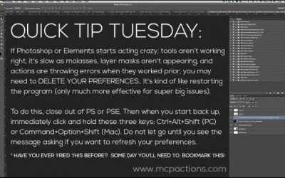 Quick Tip Tuesday: Deleting Preferences To Fix Issues in Photoshop
