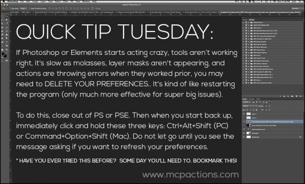 Quick Tip Tuesday preferences
