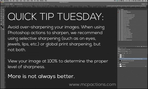 Quick Tip Tuesday sharpening