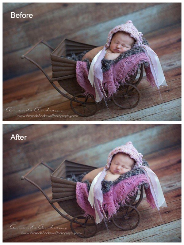 subtle edits to newborn photography