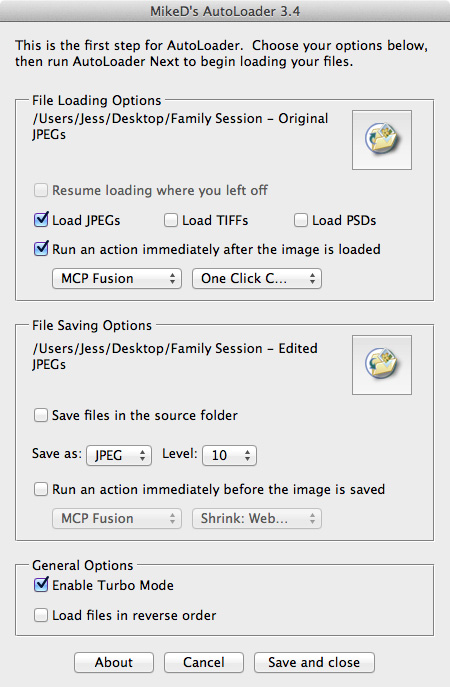 autoloader set Speed Up Your Editing Process With Actions, AutoLoader and Shortcut Keys